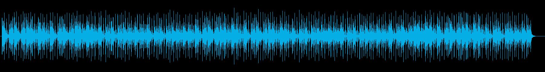 落ち着きのあるふんわりシンセサイザー曲の再生済みの波形