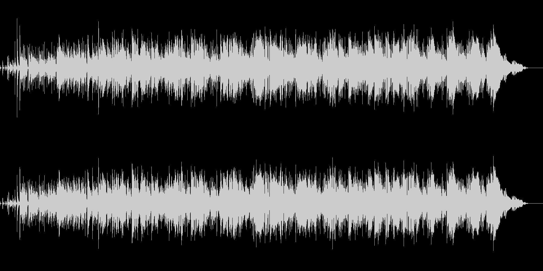 生演奏テナーサックスとアコギのボサノバの未再生の波形