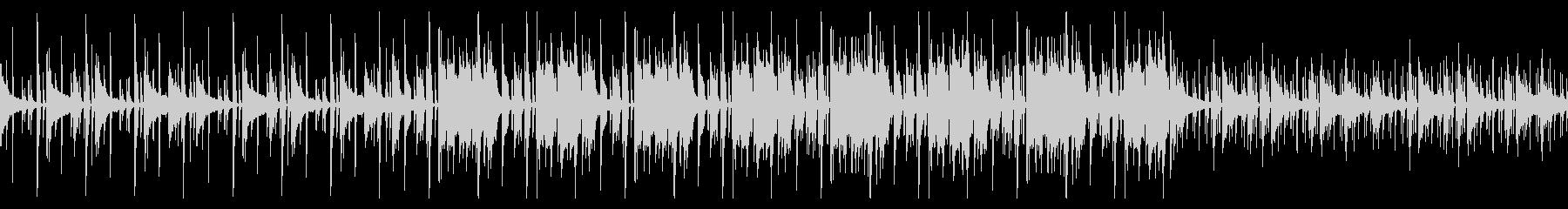 シンプルで渋いBGM ループ仕様の未再生の波形