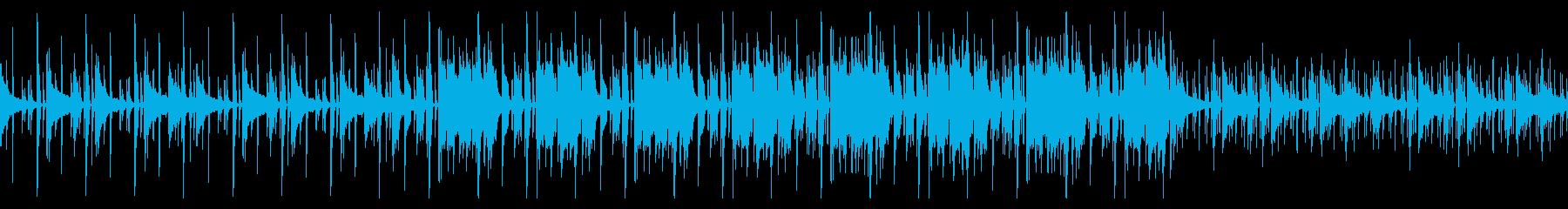シンプルで渋いBGM ループ仕様の再生済みの波形