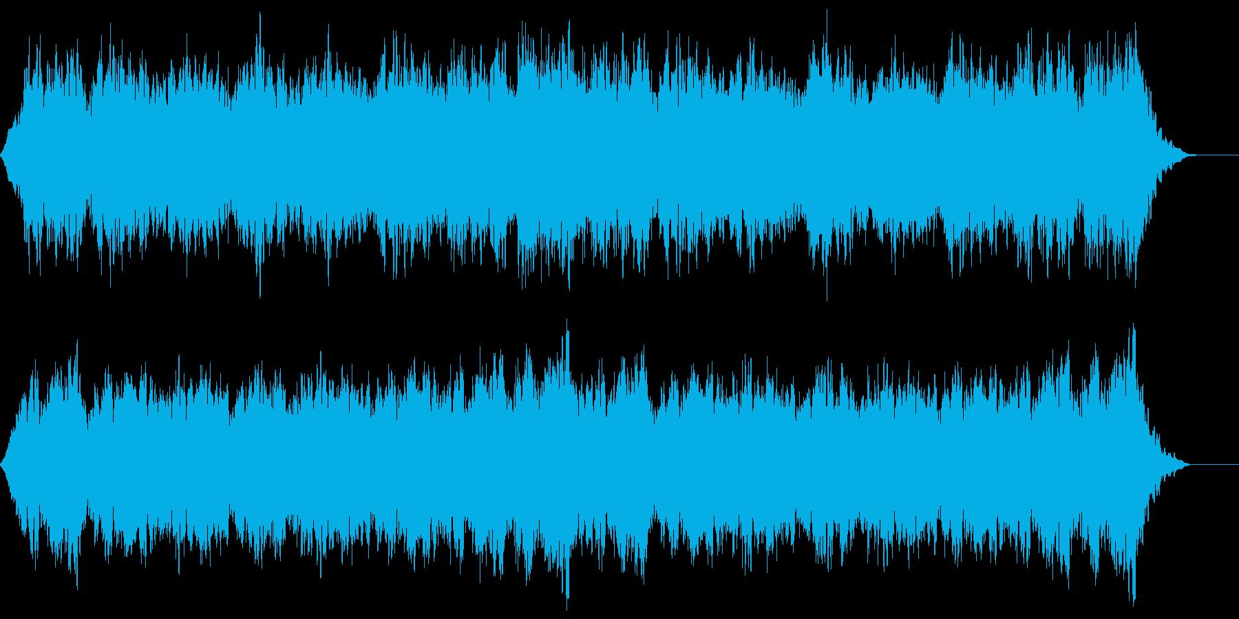 シンセパッドと鐘の音の静かな不気味ホラーの再生済みの波形
