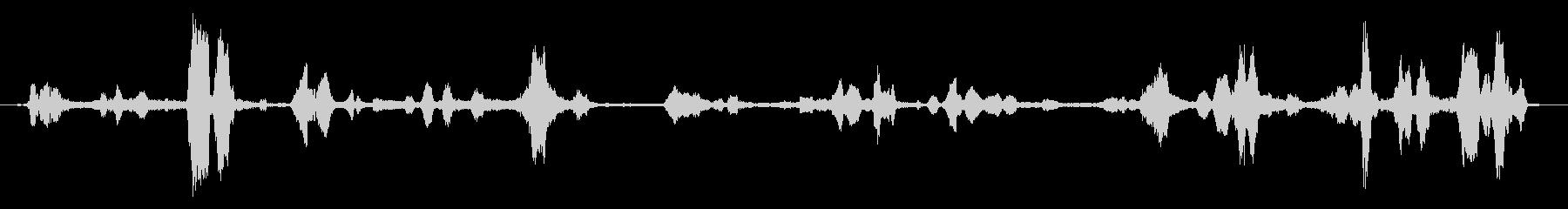 重い無線通信の干渉の未再生の波形