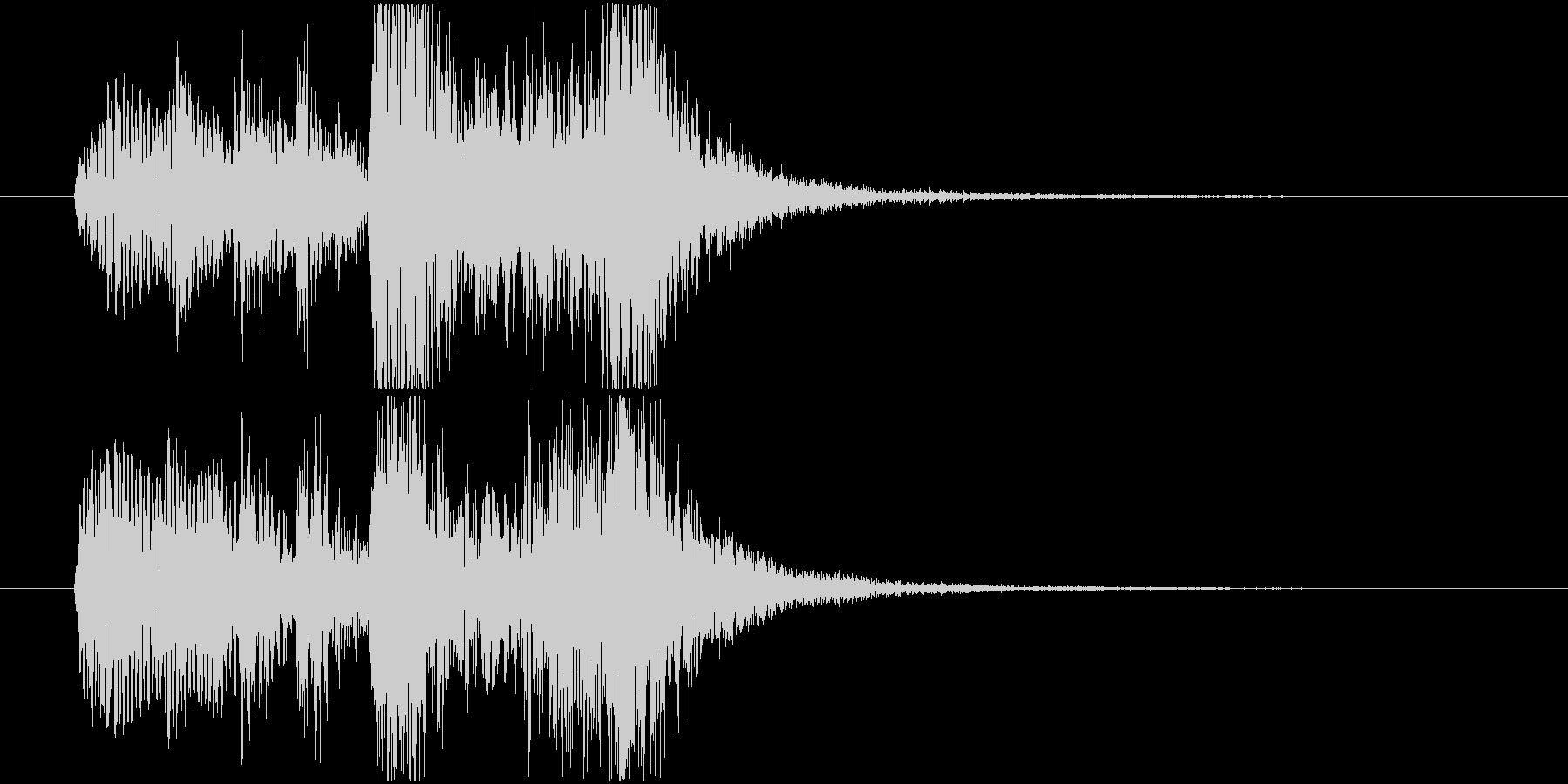 フルートが知的で楽しいサウンドロゴの未再生の波形