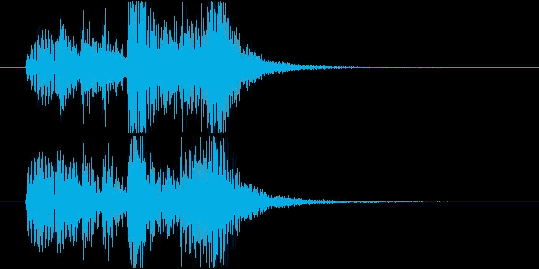 フルートが知的で楽しいサウンドロゴの再生済みの波形