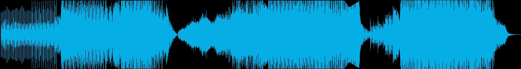 トランスBGM、EDM、ダンスフロアの再生済みの波形