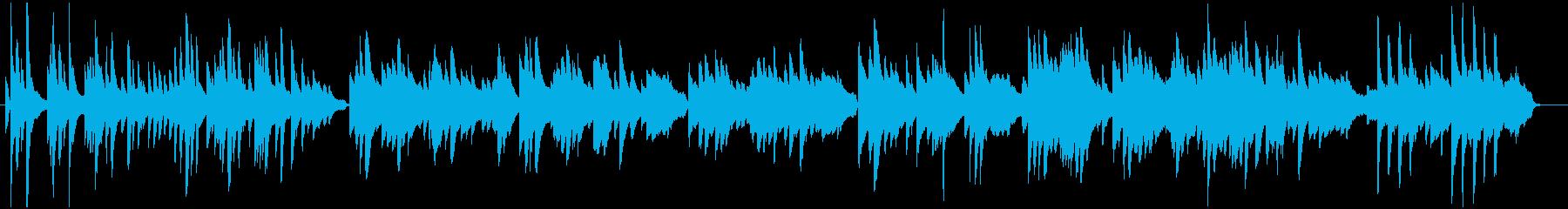 桜の散る頃をイメージしたピアノ曲の再生済みの波形