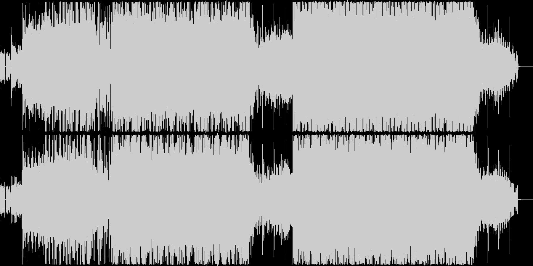ダークな雰囲気の4つ打ちクラブトランス系の未再生の波形