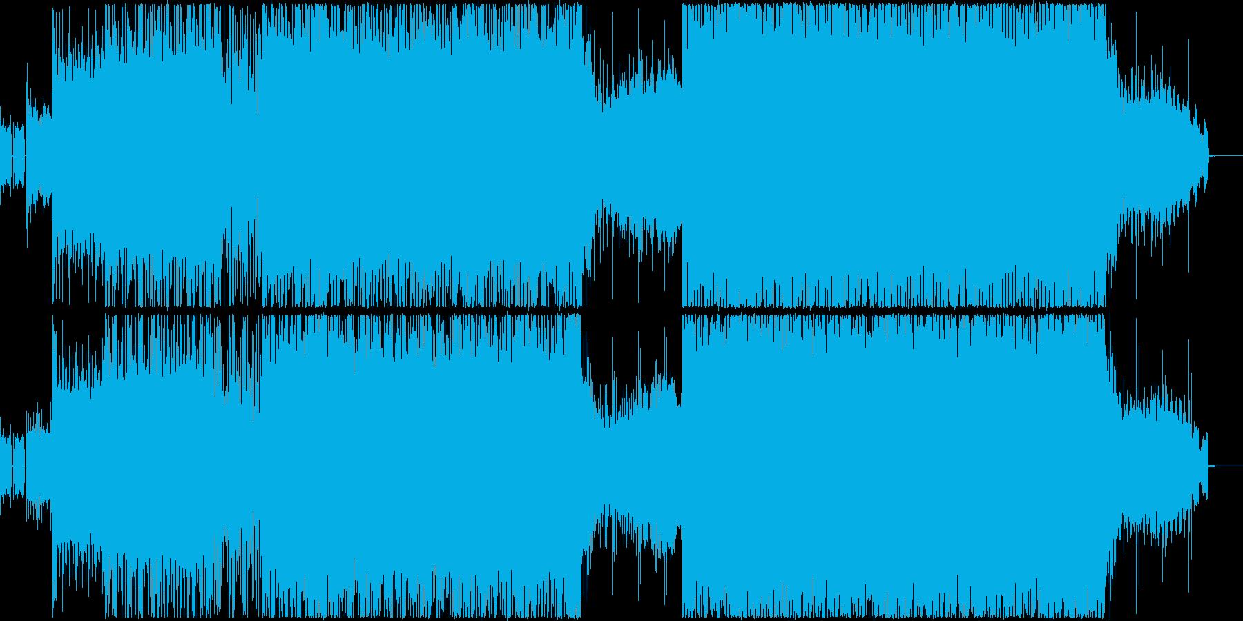 ダークな雰囲気の4つ打ちクラブトランス系の再生済みの波形
