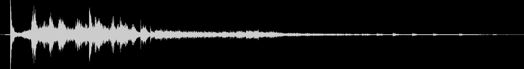 【生活音】水道の蛇口01Aの未再生の波形