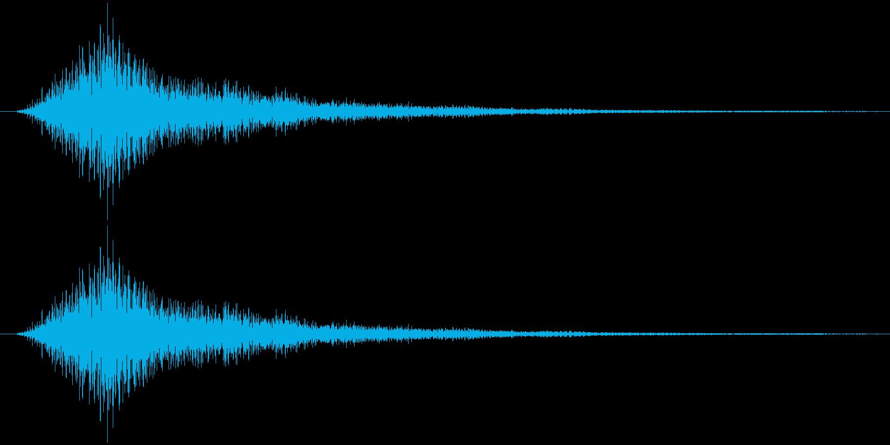 サウンドロゴ(重厚、気品)の再生済みの波形