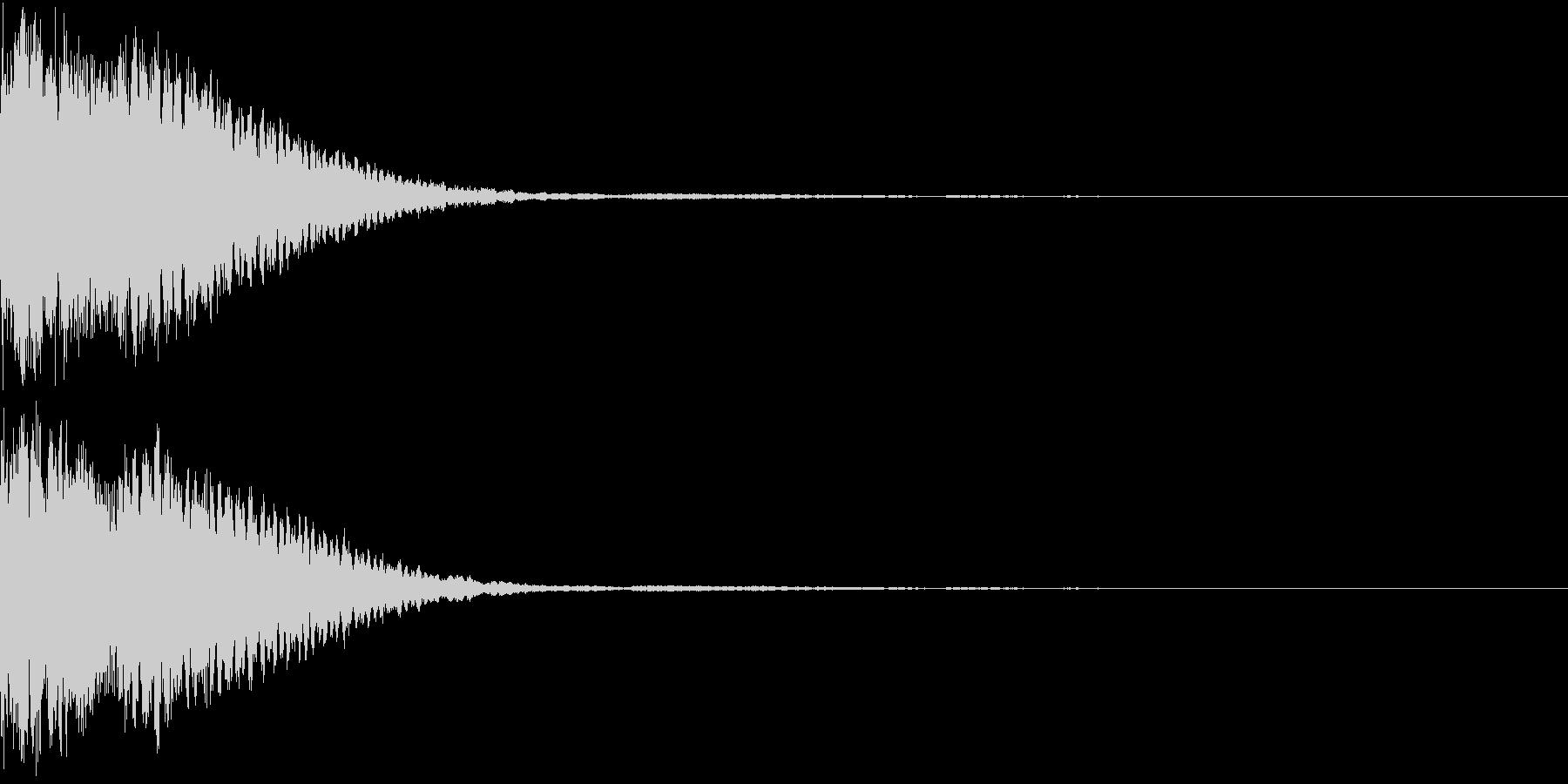 クリック音、キラン、キュイン、ピコン06の未再生の波形