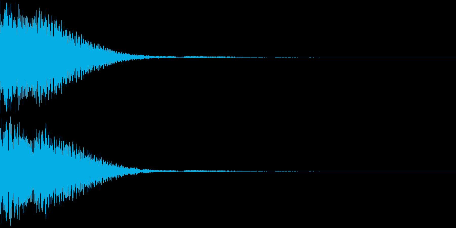 クリック音、キラン、キュイン、ピコン06の再生済みの波形