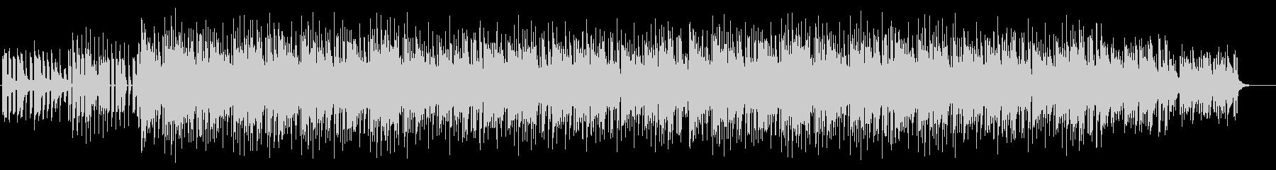 おしゃれな四つ打ち木琴BGMの未再生の波形