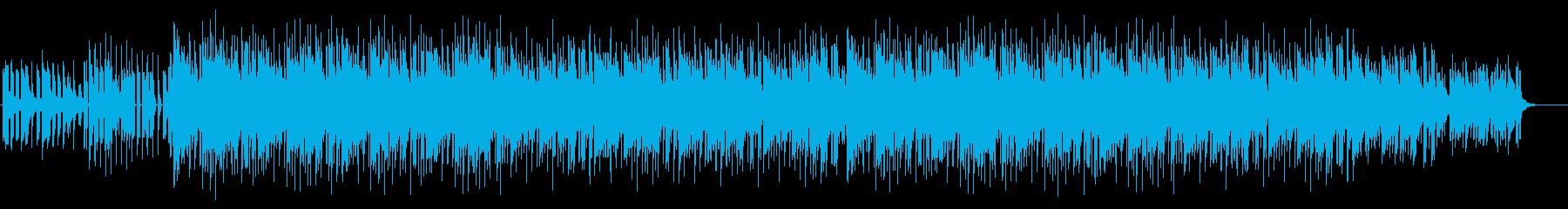 おしゃれな四つ打ち木琴BGMの再生済みの波形