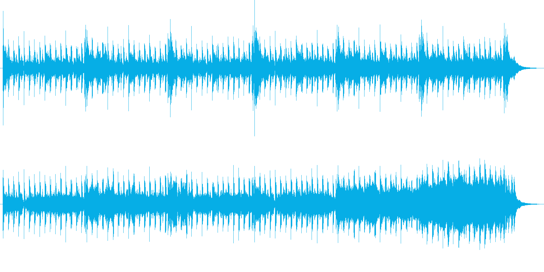 元気で明るくテンポの良いBGMの再生済みの波形