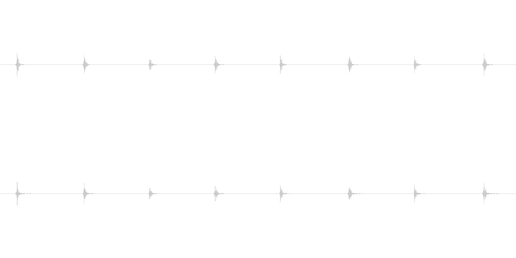 モンスター 足音トドル01の未再生の波形