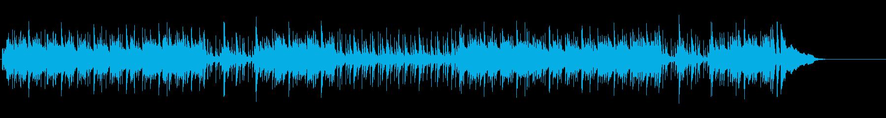 マンボのリズムで楽しく明るいBGMの再生済みの波形