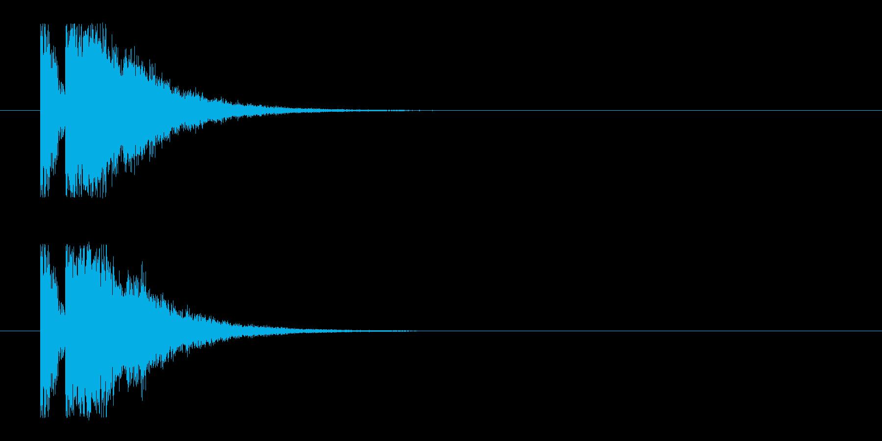 ビームライフル1★エコー有の再生済みの波形