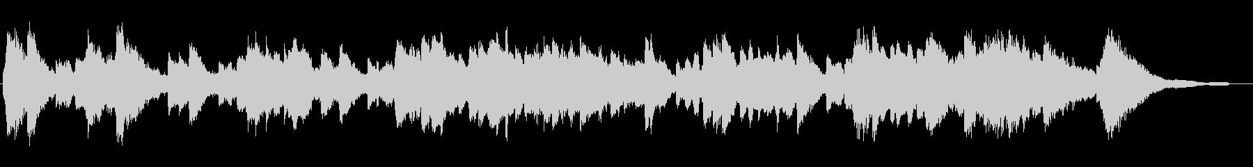 ほのぼのとしたエレピのジングルの未再生の波形