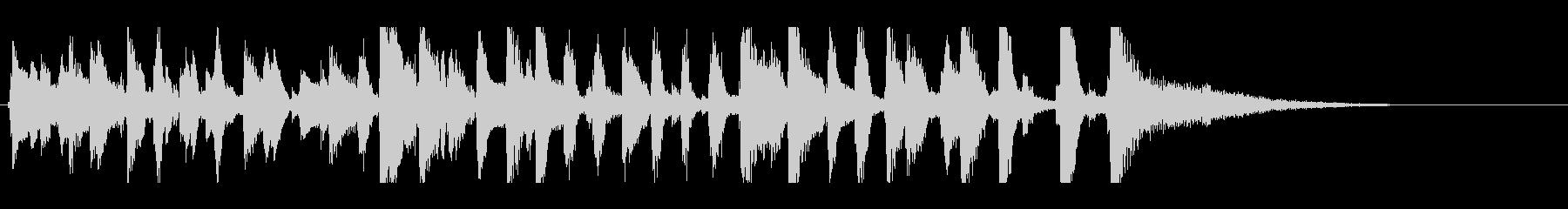 YouTube、明るいピアノレトロジャズの未再生の波形