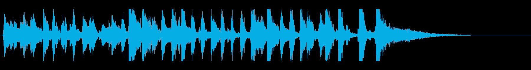 YouTube、明るいピアノレトロジャズの再生済みの波形