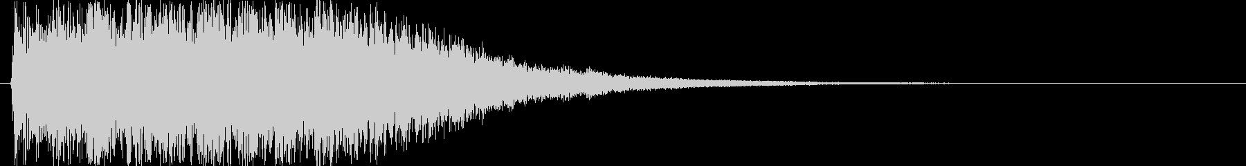 8bitなパワーアップ音 レベルアップの未再生の波形