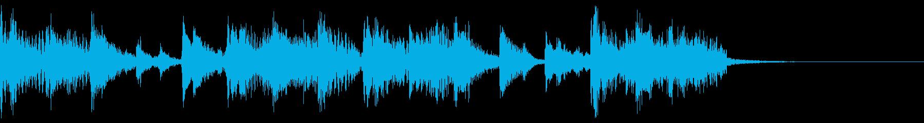 フューチャーベースなジングルの再生済みの波形