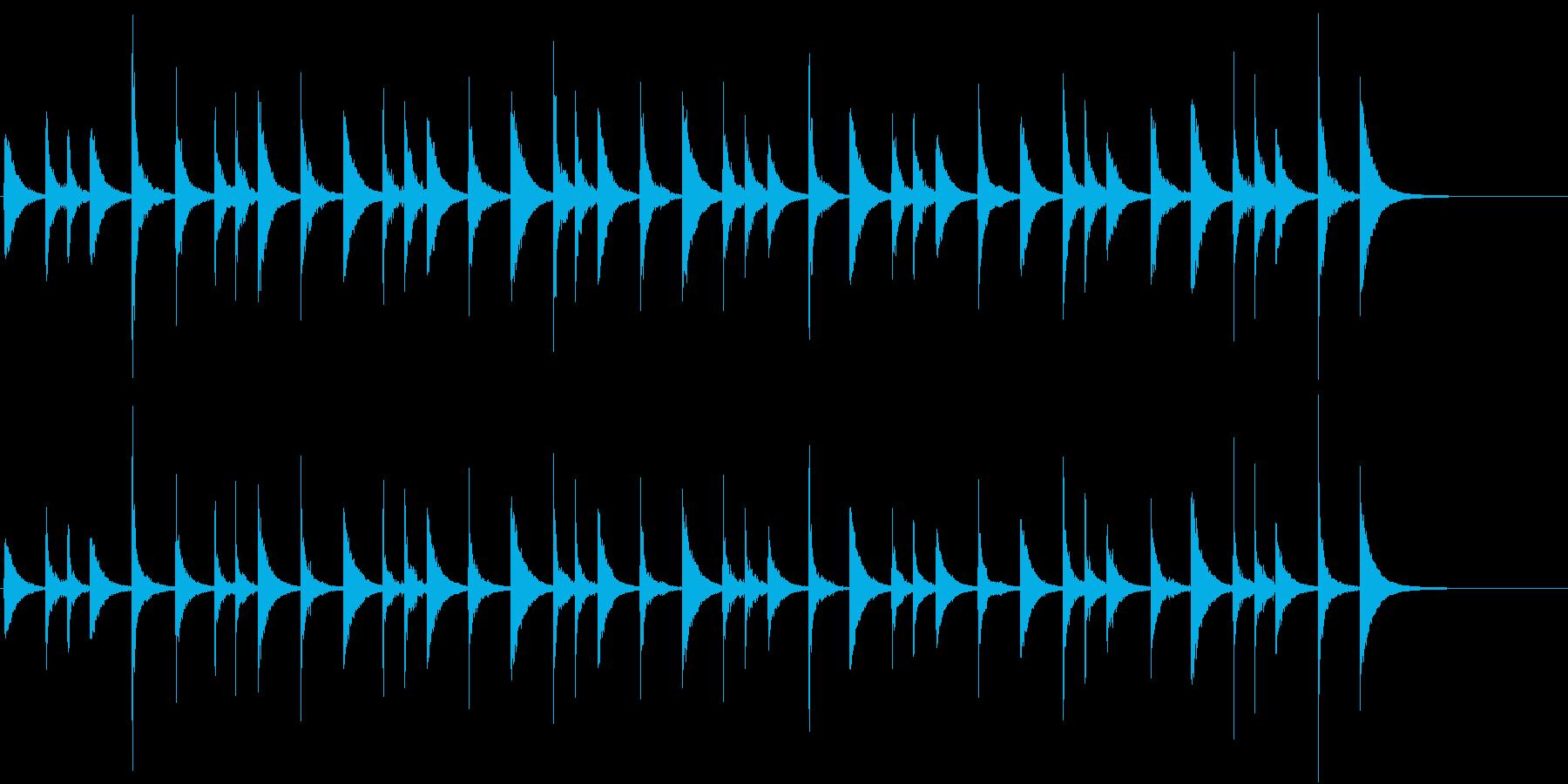 タンバリン:リオ:リズム、タンバリン音楽の再生済みの波形