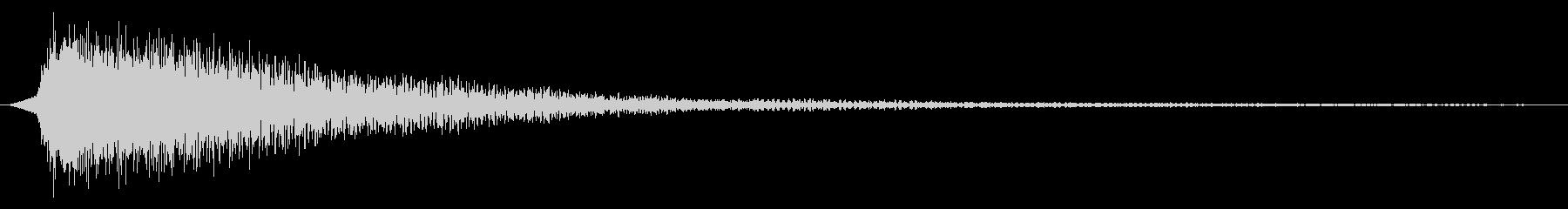 人狼・脱出ゲーム用効果音「衝撃・緊迫3」の未再生の波形