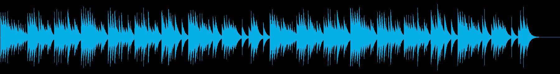 モーツァルトの子守唄 カード式オルゴールの再生済みの波形
