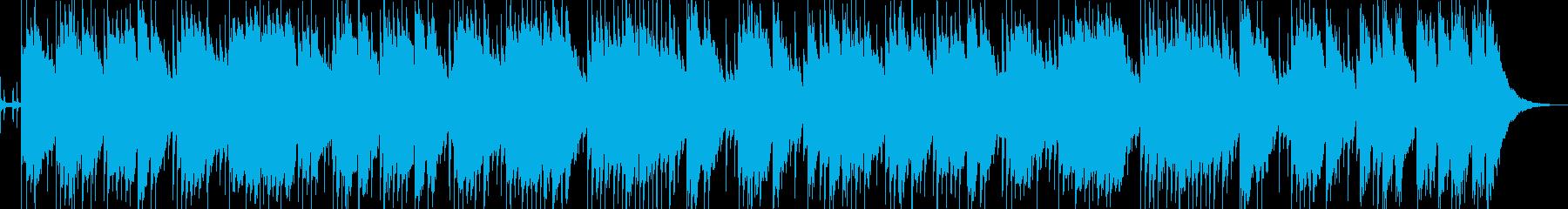 ゆったりとしたアコギのバラードの再生済みの波形