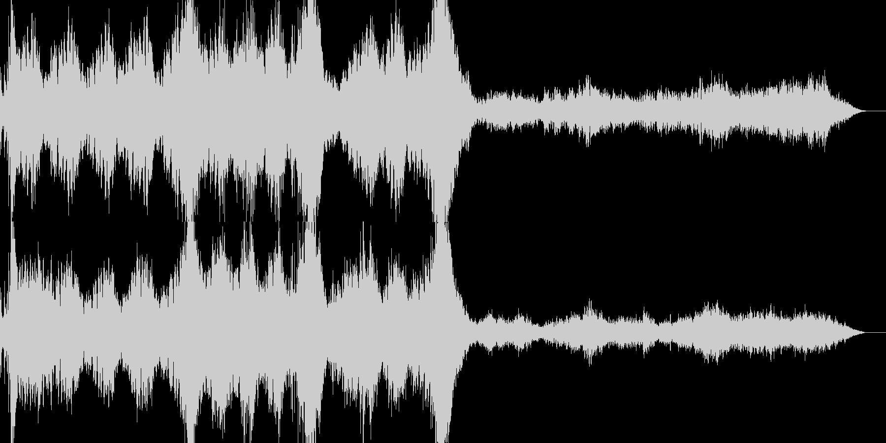 ミステリアスでダークな雰囲気のBGMの未再生の波形