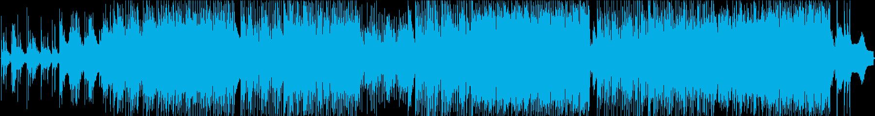 世界的マークのあるテクノクイックポップ。の再生済みの波形