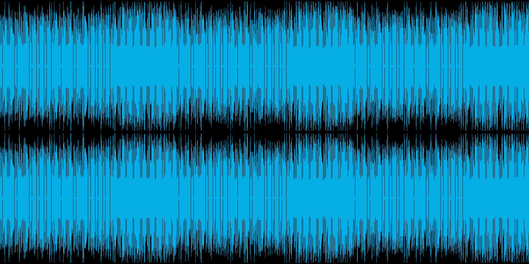 爽やかでテンポのいいファミコン風BGMの再生済みの波形