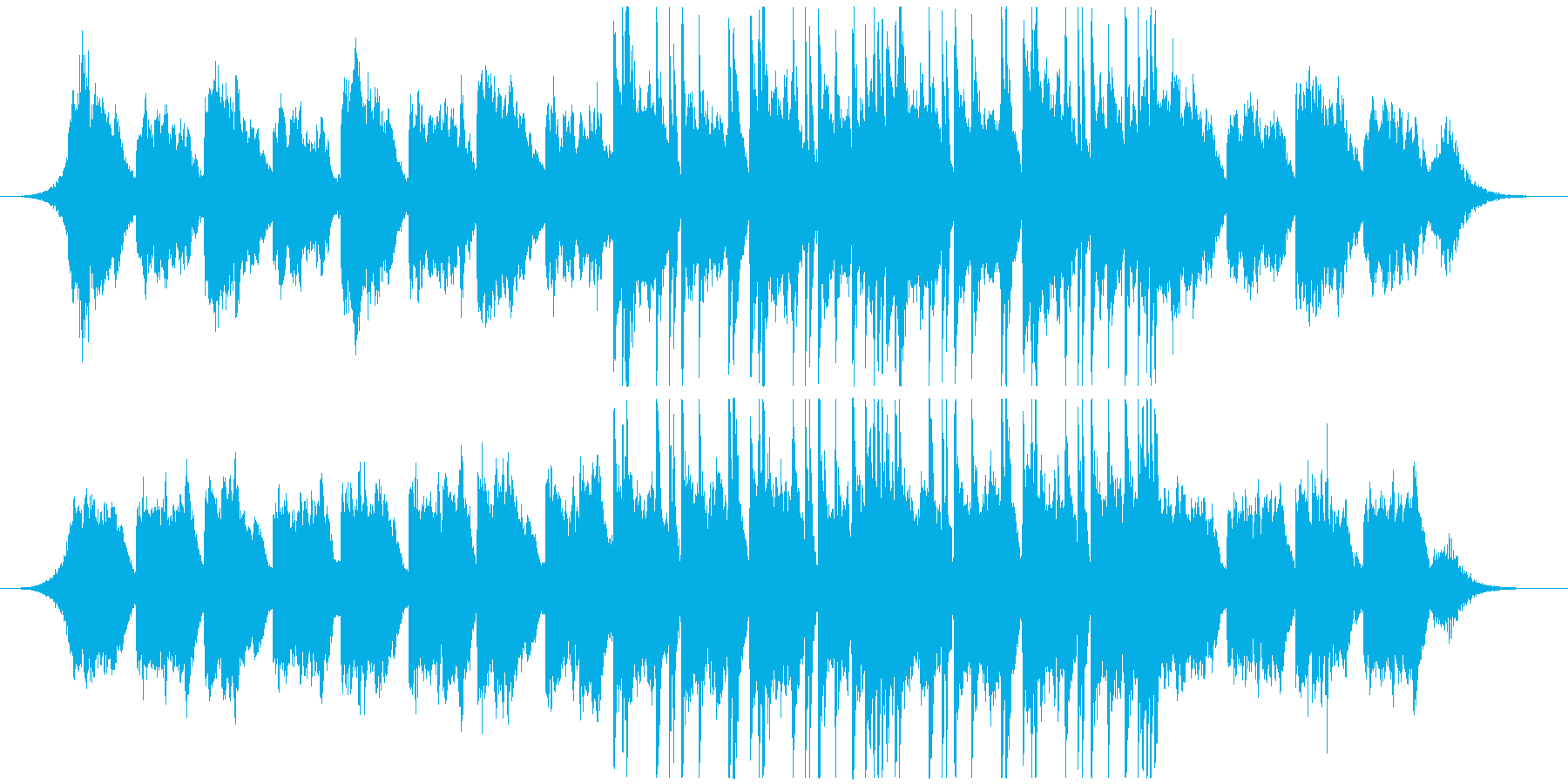 近未来の遺跡をイメージしたBGMの再生済みの波形