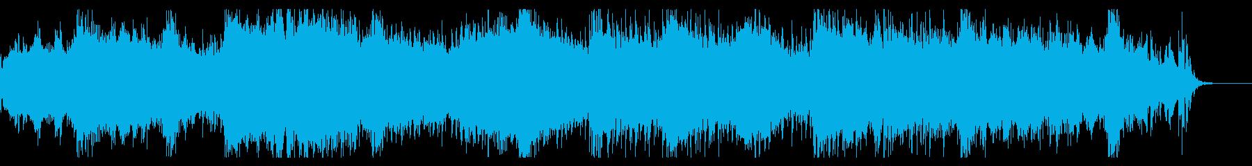 不気味なアンビエントテクスチャの再生済みの波形