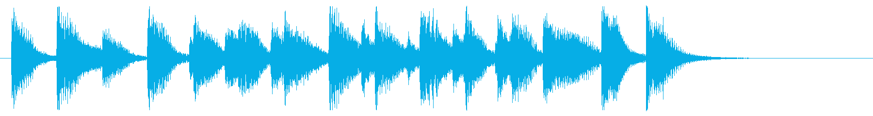 ハッピー&陽気!ホンキートンクピアノ!の再生済みの波形