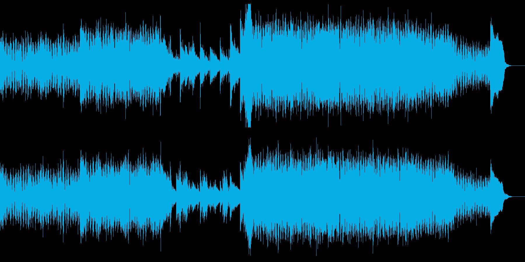 シンセ中心のダンジョンBGM(ループ可)の再生済みの波形