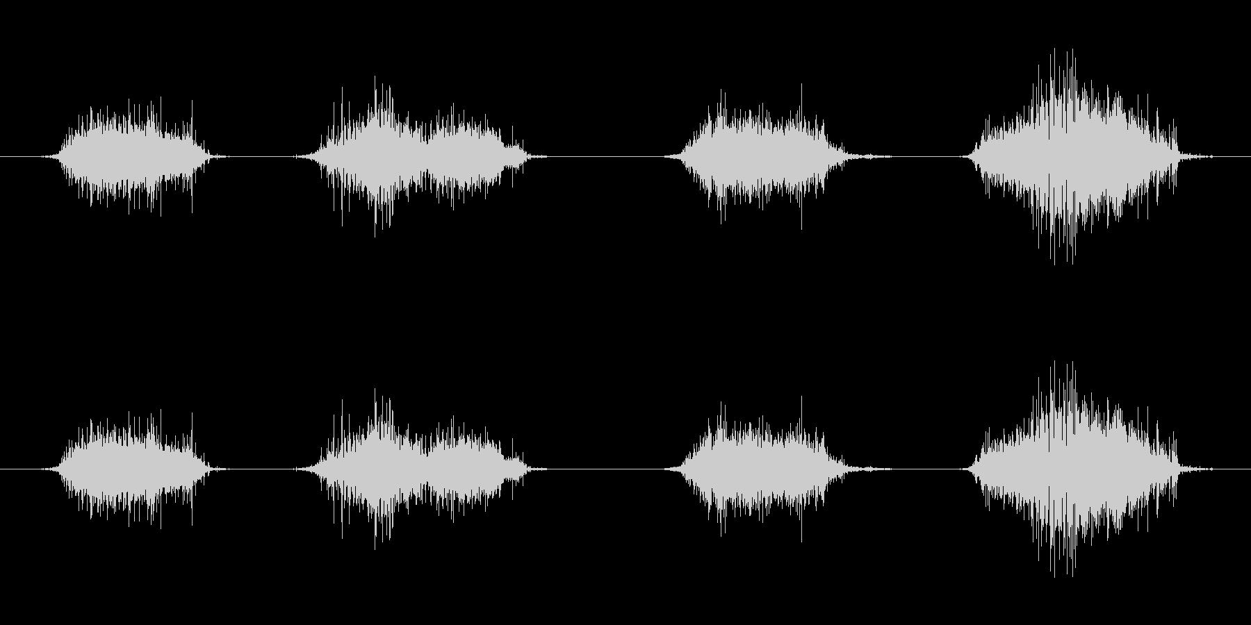 ずるずる這いずる音 モンスター の未再生の波形