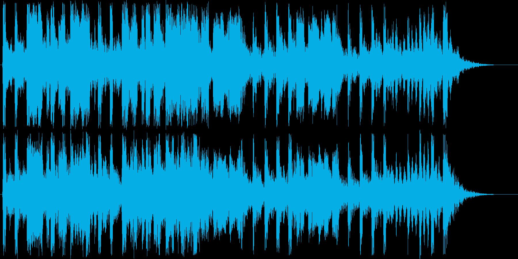 ほのぼのしたシンセ・木琴などの曲短めの再生済みの波形
