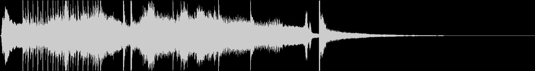 和楽器を使用したジングルの未再生の波形