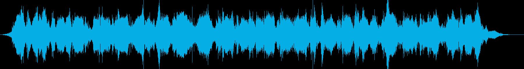 不気味で不思議なホラーBGMの再生済みの波形