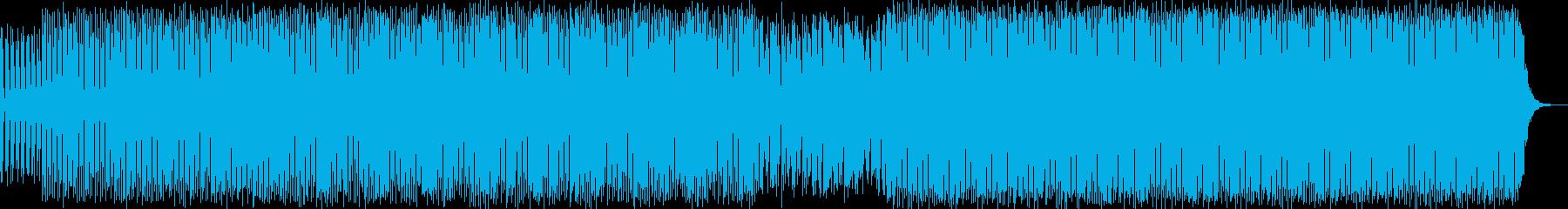 クールエレクトロニカハウスミュージックの再生済みの波形