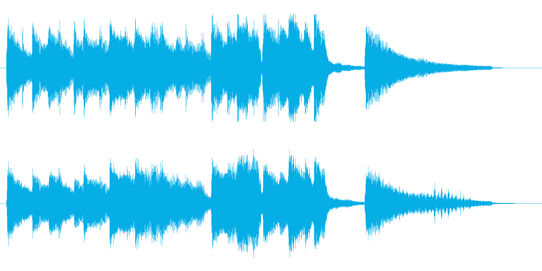 ゆったり、のんびり、陽気なハワイアンロゴの再生済みの波形