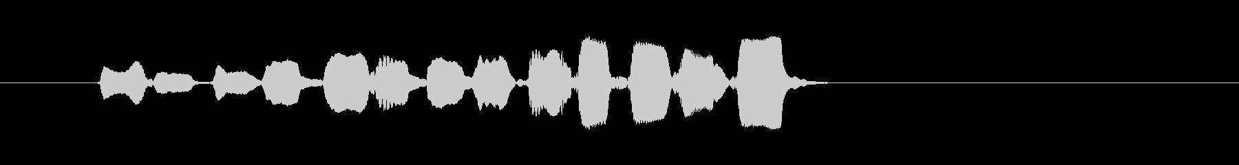 生演奏リコーダーの単音ジングルの未再生の波形