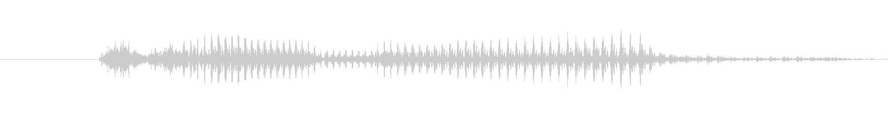 「10 AM」英語発音の未再生の波形