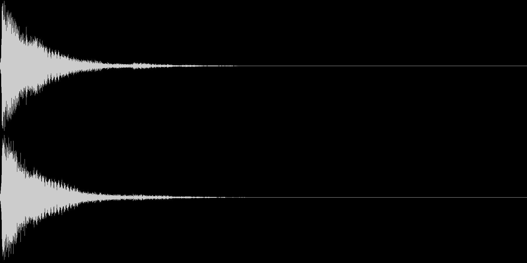 刀 剣 カキーン シャキーン 目立つ03の未再生の波形