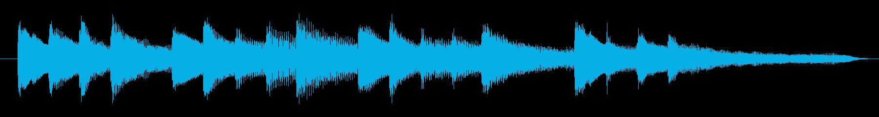 ゆったりした感動的なピアノのジングルの再生済みの波形