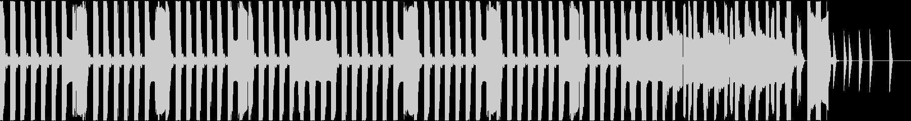 ファミコン風ループ/急いでいる感じの未再生の波形