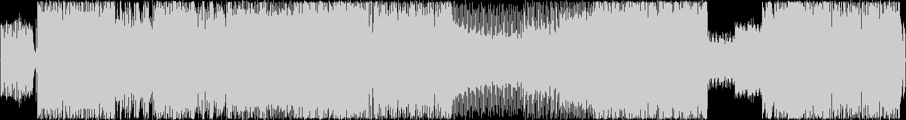 アップテンポなJ-ROCK風の楽曲の未再生の波形